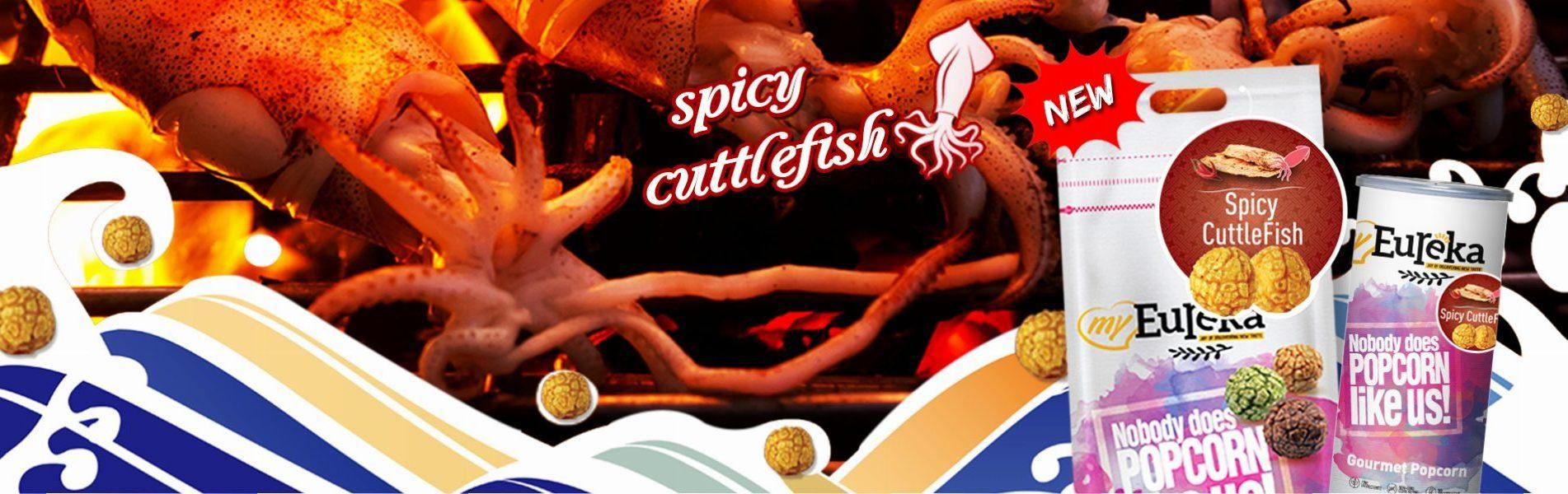 Eureka Snack Spicy Cuttlefish Popcorn